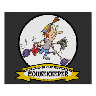 WORLDS GREATEST HOUSEKEEPER WOMEN CARTOON POSTER
