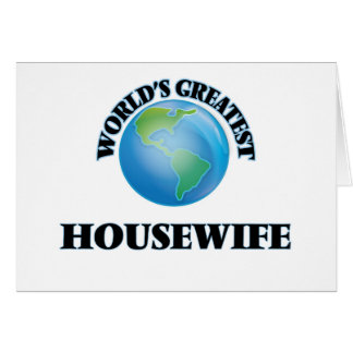 World's Greatest Housewife Greeting Card