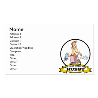 WORLDS GREATEST HUBBY MEN CARTOON Double-Sided STANDARD BUSINESS CARDS (Pack OF 100)
