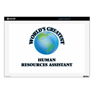 """World's Greatest Human Resources Assistant Skins For 17"""" Laptops"""