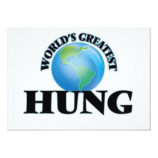 World's Greatest Hung 5x7 Paper Invitation Card