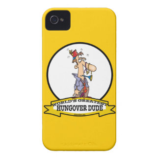 WORLDS GREATEST HUNGOVER DUDE CARTOON iPhone 4 Case-Mate CASES