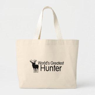 Worlds Greatest Hunter Large Tote Bag