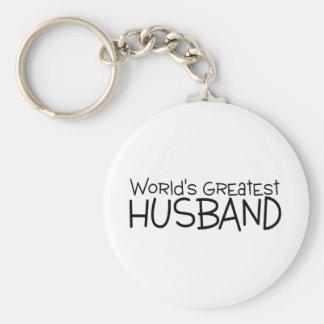 Worlds Greatest Husband Basic Round Button Keychain
