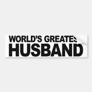 World's Greatest Husband Bumper Sticker