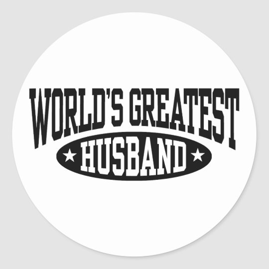 World's Greatest Husband Classic Round Sticker