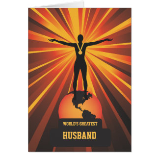 Worlds Greatest Husband Golden Award Greeting Greeting Card