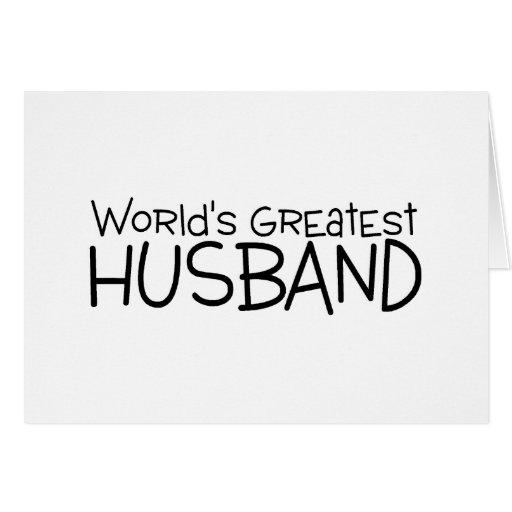 Worlds Greatest Husband Greeting Card