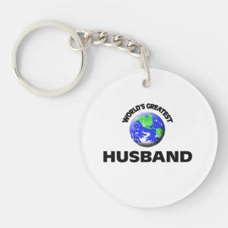 World's Greatest Husband Single-Sided Round Acrylic Keychain