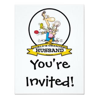 WORLDS GREATEST HUSBAND MEN CARTOON CARD