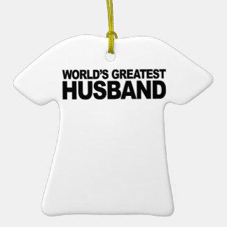 World's Greatest Husband Christmas Ornaments