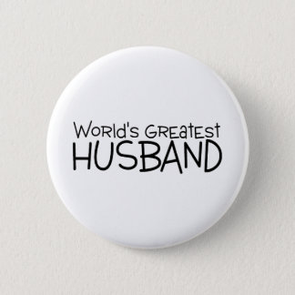 Worlds Greatest Husband Pinback Button