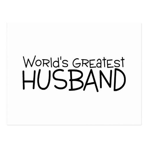 Worlds Greatest Husband Postcard