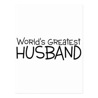 Worlds Greatest Husband Postcard