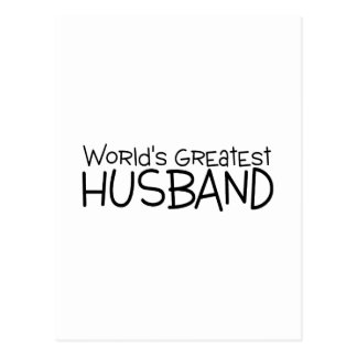 Worlds Greatest Husband Post Card