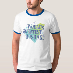 Men's Basic Ringer T-Shirt with World's Greatest Husband design