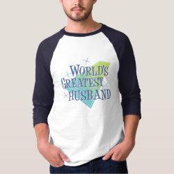 Men's Basic 3/4 Sleeve Raglan T-Shirt with World's Greatest Husband design
