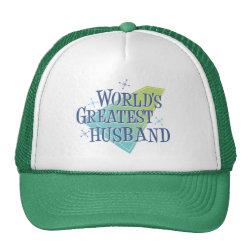 Trucker Hat with World's Greatest Husband design