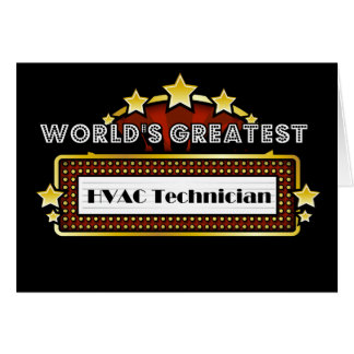 World's Greatest HVAC Technician Card