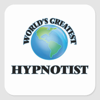 World's Greatest Hypnotist Square Stickers