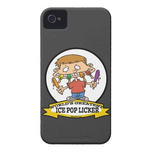 WORLDS GREATEST ICE POP LICKER CARTOON iPhone 4 Case-Mate CASES