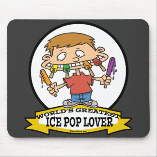 WORLDS GREATEST ICE POP LOVER CARTOON MOUSEPAD