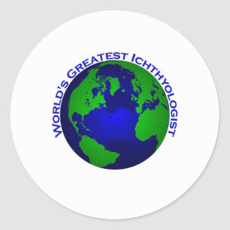 WOrld's Greatest Ichthyologist Classic Round Sticker