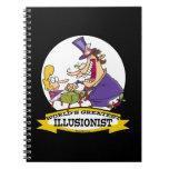 WORLDS GREATEST ILLUSIONIST CARTOON SPIRAL NOTEBOOKS