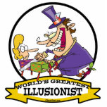 WORLDS GREATEST ILLUSIONIST CARTOON ACRYLIC CUT OUTS