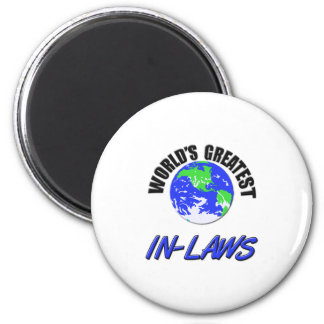 World's Greatest In-Laws 2 Inch Round Magnet