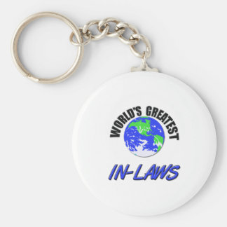 World's Greatest In-Laws Basic Round Button Keychain