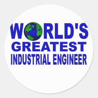 World's Greatest Industrial Engineer Classic Round Sticker