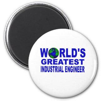 World's Greatest Industrial Engineer 2 Inch Round Magnet