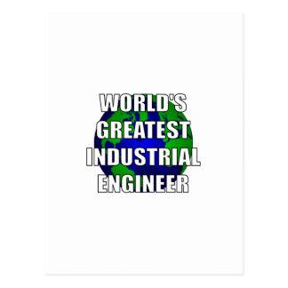 World's Greatest Industrial Engineer Postcard