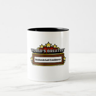 World's Greatest Industrial Engineer Two-Tone Coffee Mug