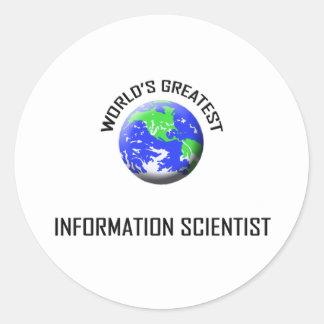 World's Greatest Information Scientist Round Sticker