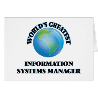 World's Greatest Information Systems Manager Stationery Note Card