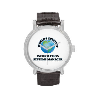 World's Greatest Information Systems Manager Wristwatch