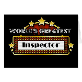 World's Greatest Inspector Card