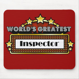 World's Greatest Inspector Mouse Pad