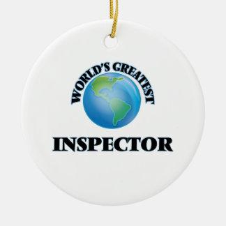 World's Greatest Inspector Christmas Ornaments