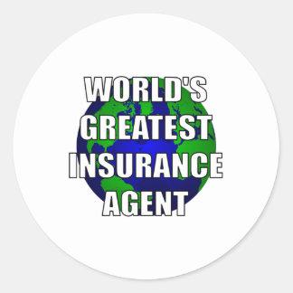 World's Greatest Insurance Agent Classic Round Sticker