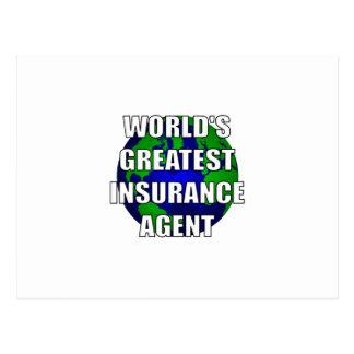World's Greatest Insurance Agent Postcard