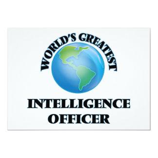 World's Greatest Intelligence Officer 5x7 Paper Invitation Card
