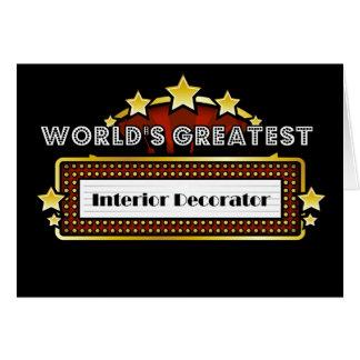 World's Greatest Interior Decorator Greeting Card