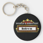 World's Greatest Intern Key Chain