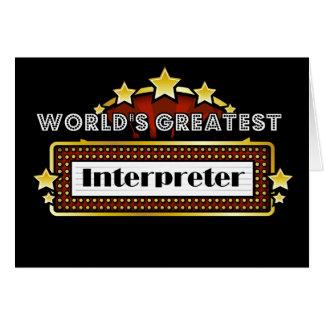 World's Greatest Interpreter Greeting Card