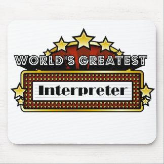 World's Greatest Interpreter Mouse Pads