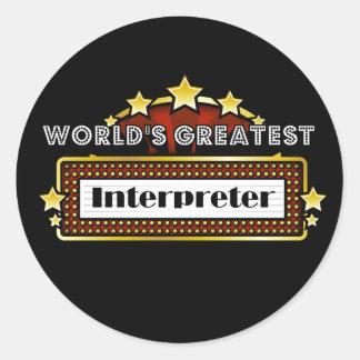 World's Greatest Interpreter Sticker
