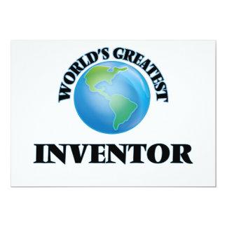 "World's Greatest Inventor 5"" X 7"" Invitation Card"